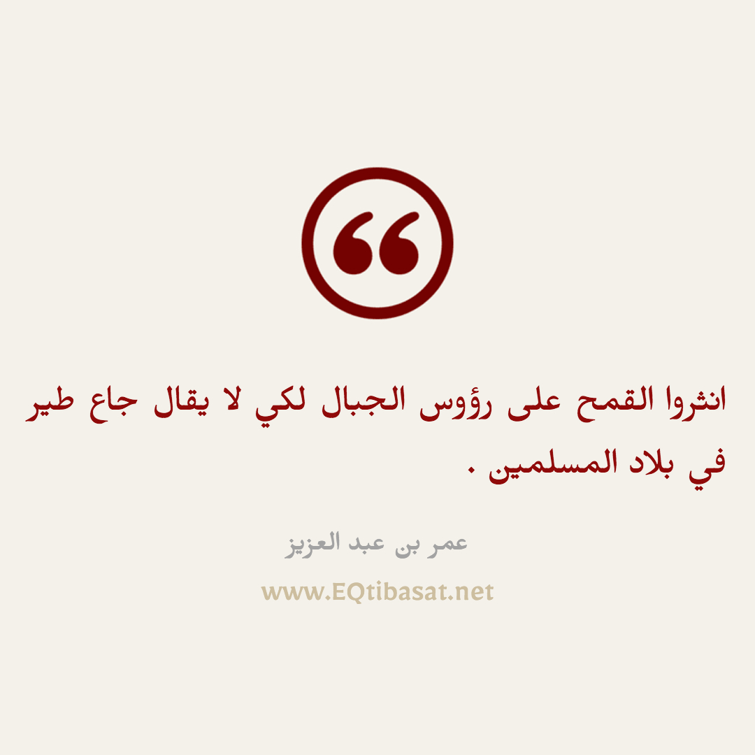 أقتباس مصور - عمر بن عبد العزيز